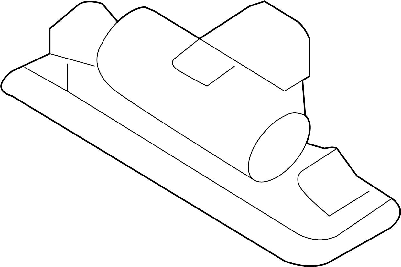 Ford Taurus License Lamp Plate Light Lens