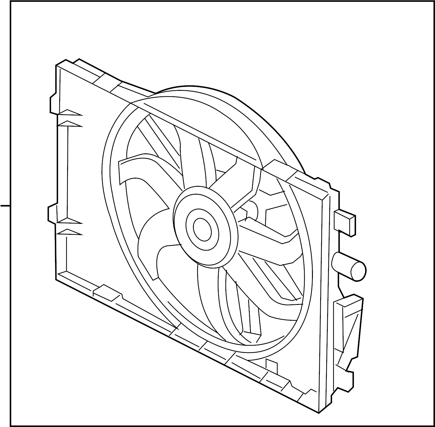 Ford Fusion Engine Cooling Fan Assembly Motor And Fan