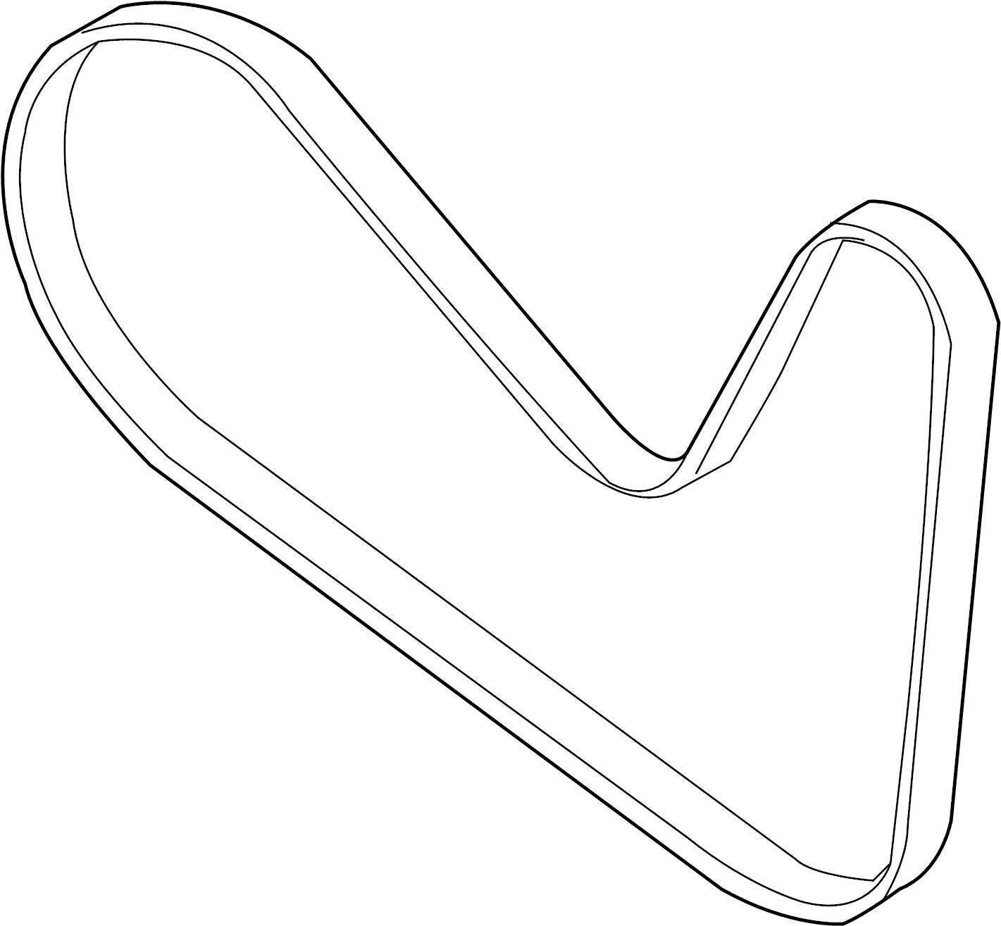 Ford Edge Accessory Drive Belt Liter Alternatorac
