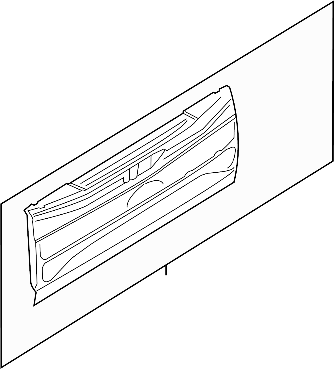 Ford F 150 Tail Gate Tailgate Assembly W Flex Step W O