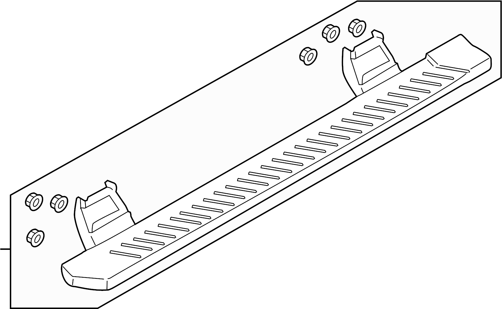 Ford F 150 Running Board Step Assembly Part Includes Right And Left Running Board