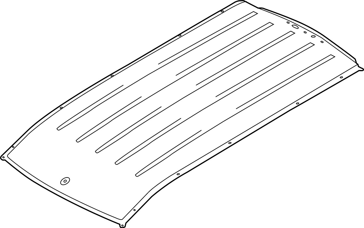 Ford Transit Connect Roof Panel Fixed Glass