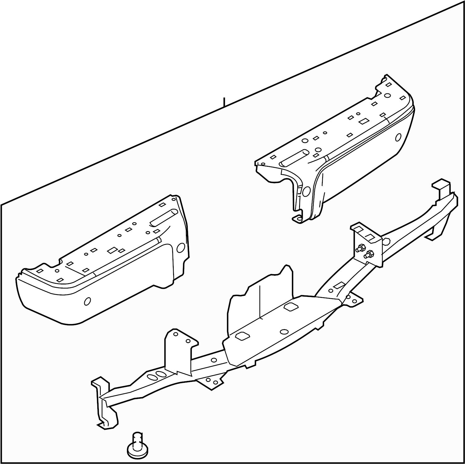Ford F 350 Super Duty Bumper Face Bar Rear Upper