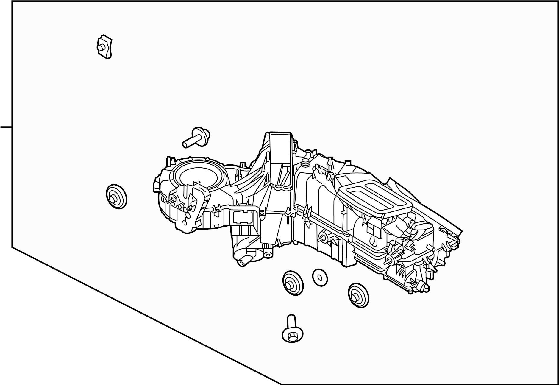 Ford F 250 Super Duty A C Evaporator Core And Case