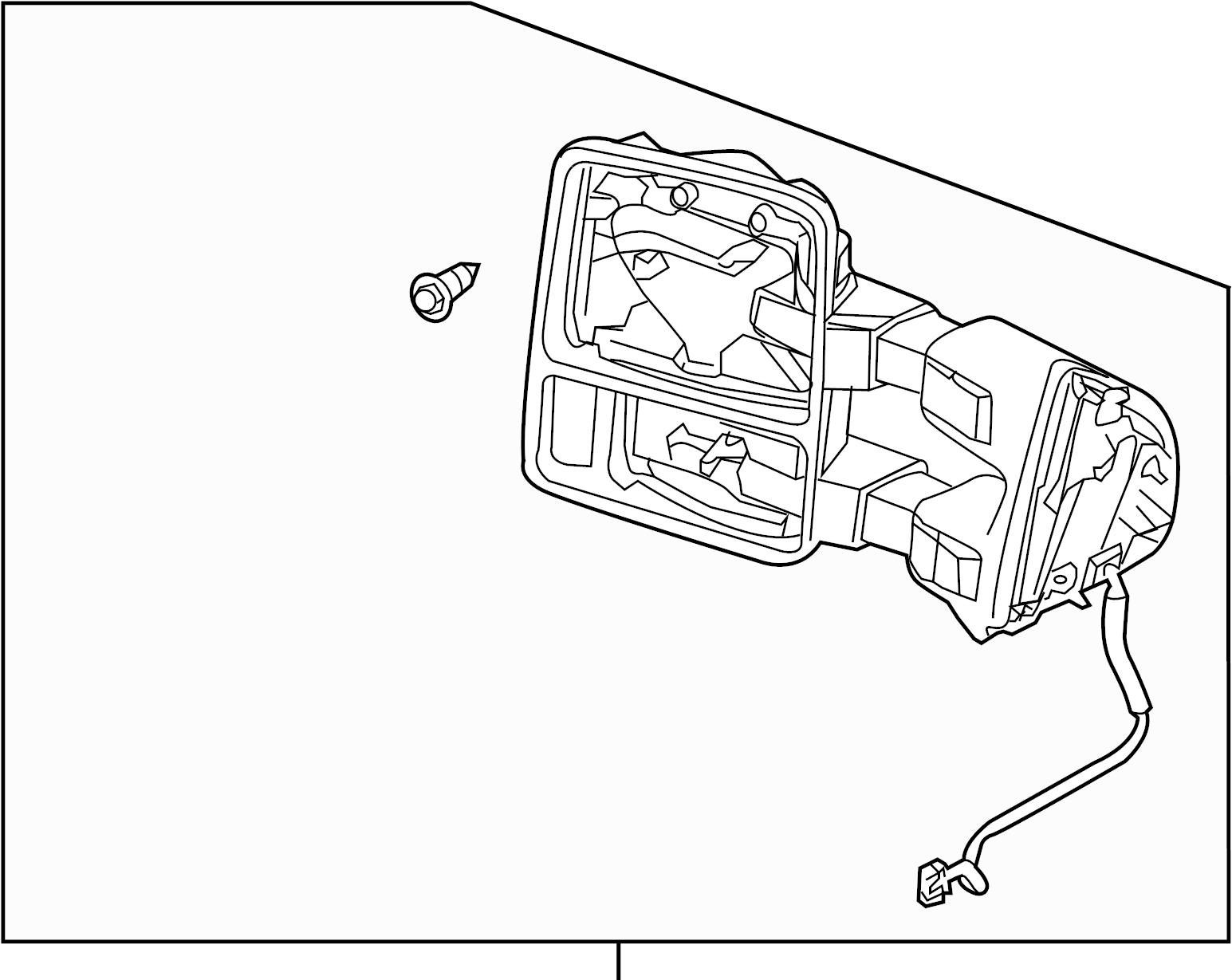 Ford F 250 Super Duty Door Mirror Rear Power