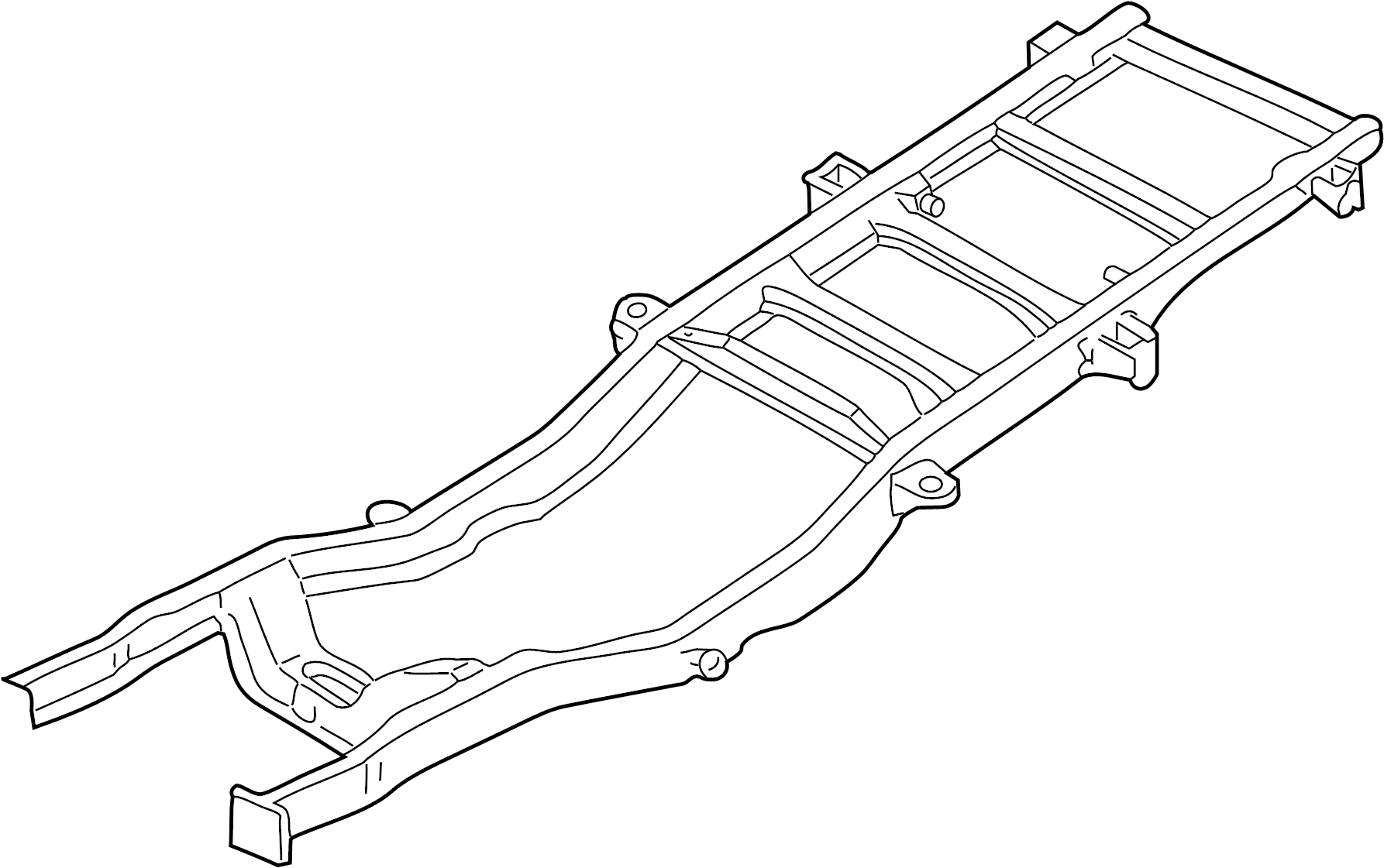 Ford F 350 Super Duty Frame Assembly Frame Rail Frame