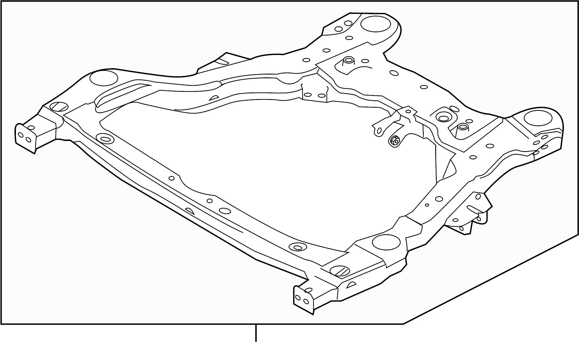 Ford Explorer Crossmember Suspension C Member Subframe