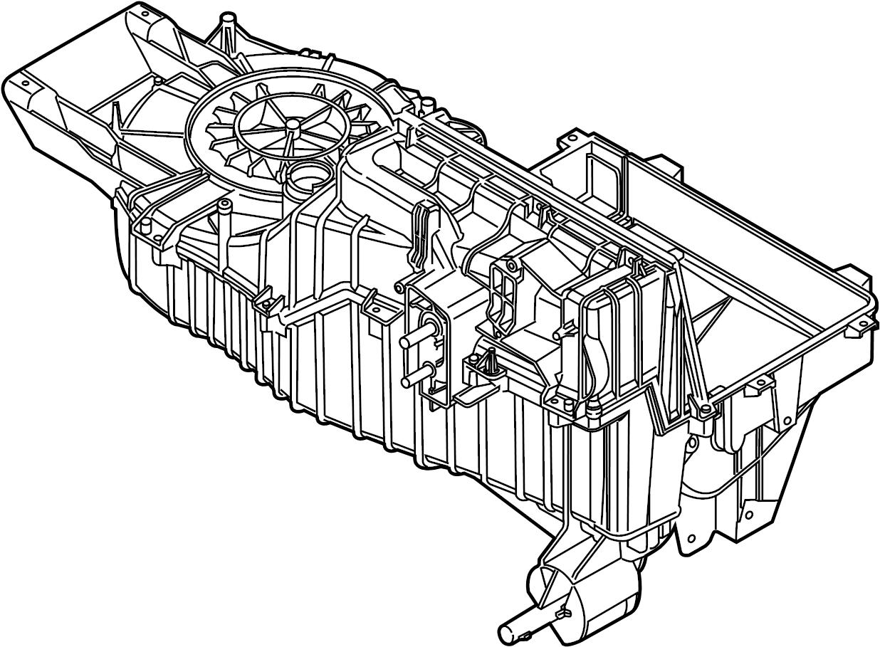 Ford Explorer Evaporator Case And Core Dualzone
