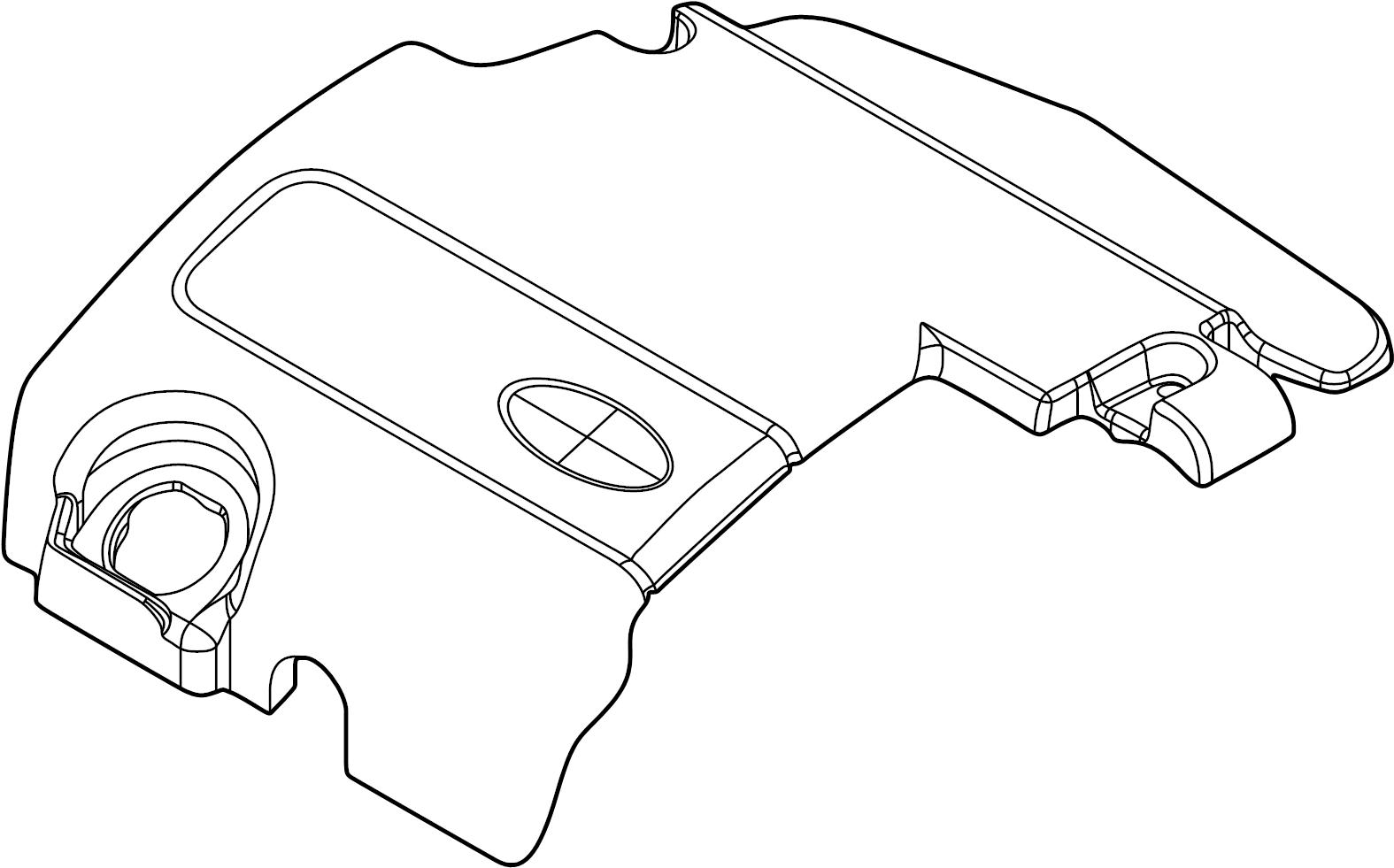 Ford Explorer Engine Cover Non Liter Transaxle