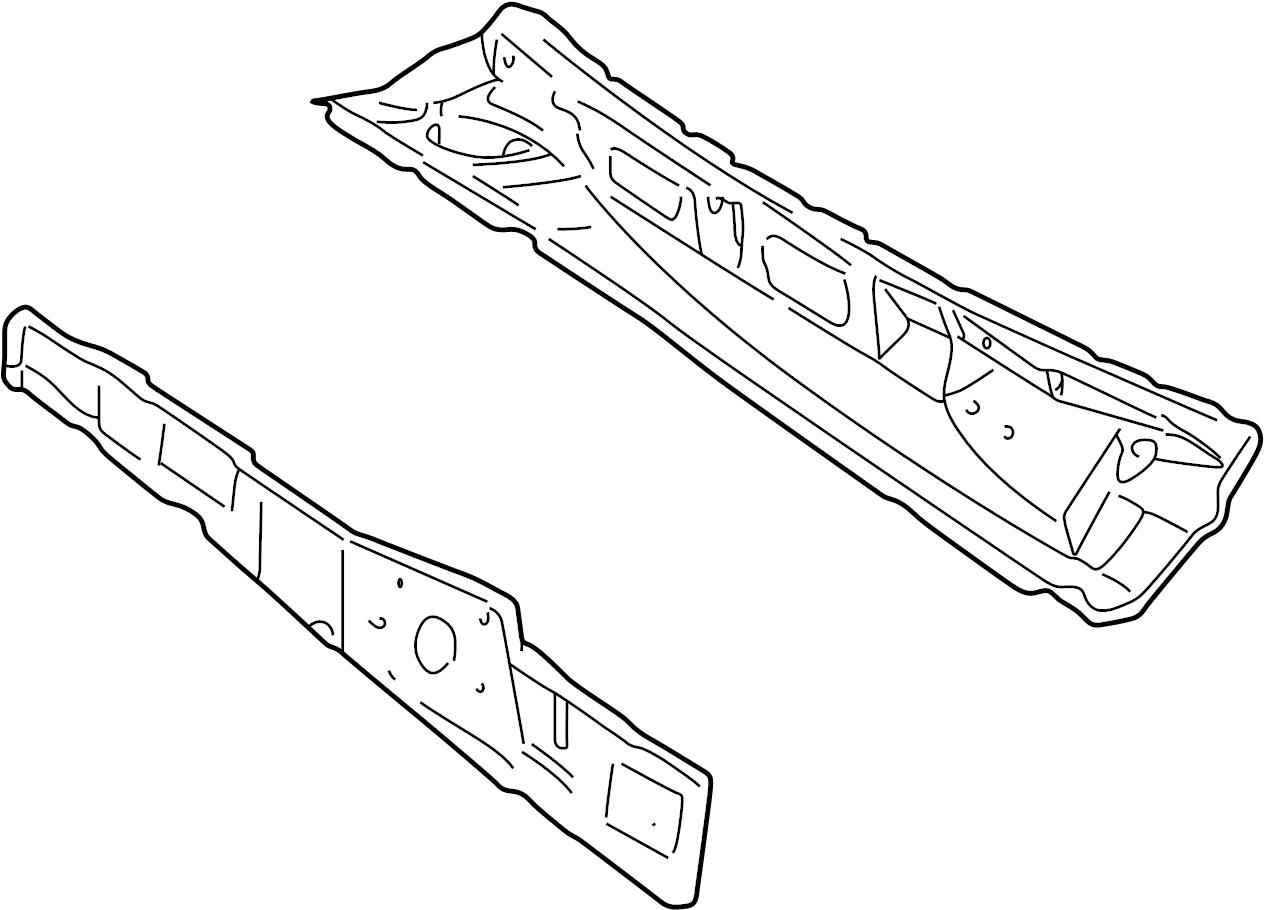 Ford Explorer Sport Trac Cowl Panel Cowl Top Panel Inner