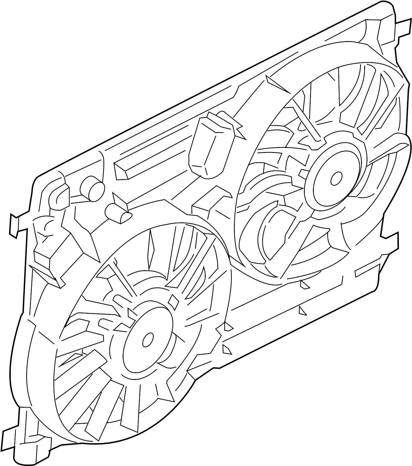 Ford Escape Motor And Fan Assembly