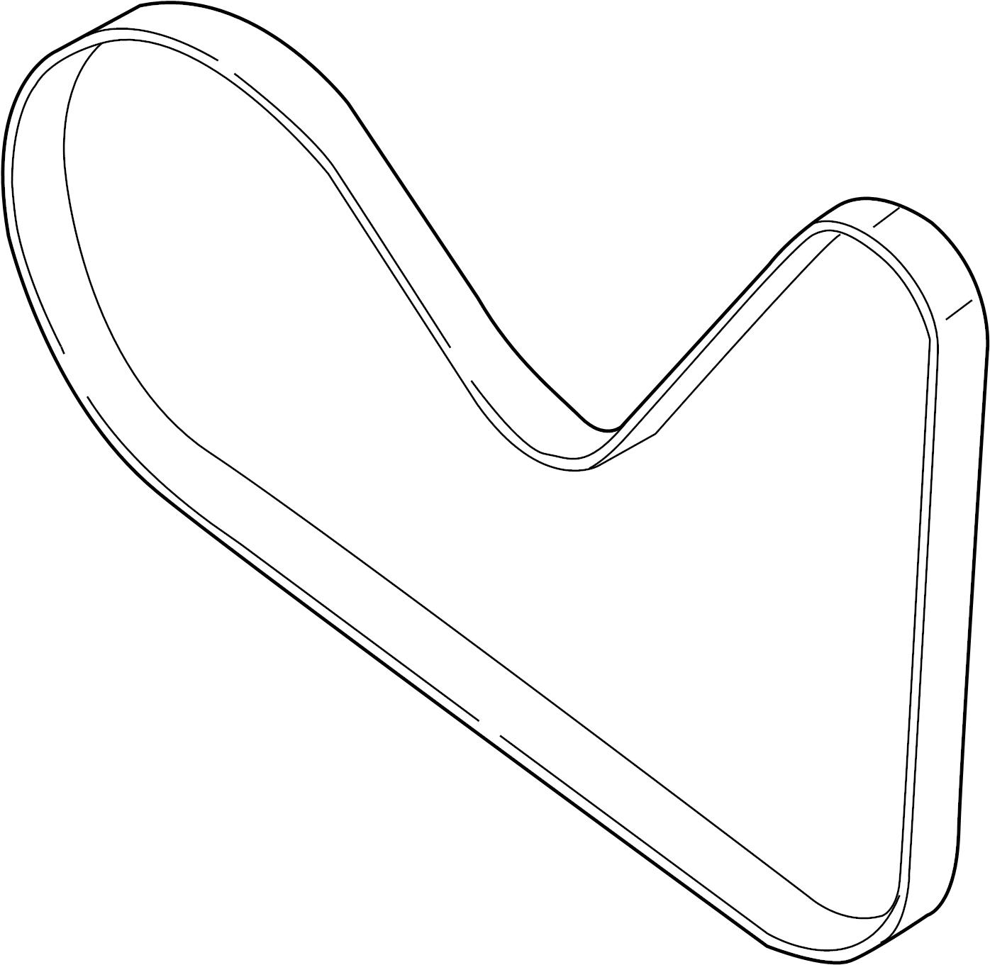 Ford Edge Accessory Drive Belt Serpentine Belt Liter Pulleys Belts