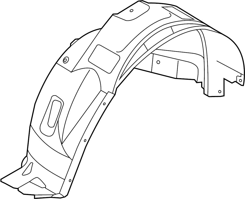 Ford Edge Fender Splash Shield Front Lower Liner Left