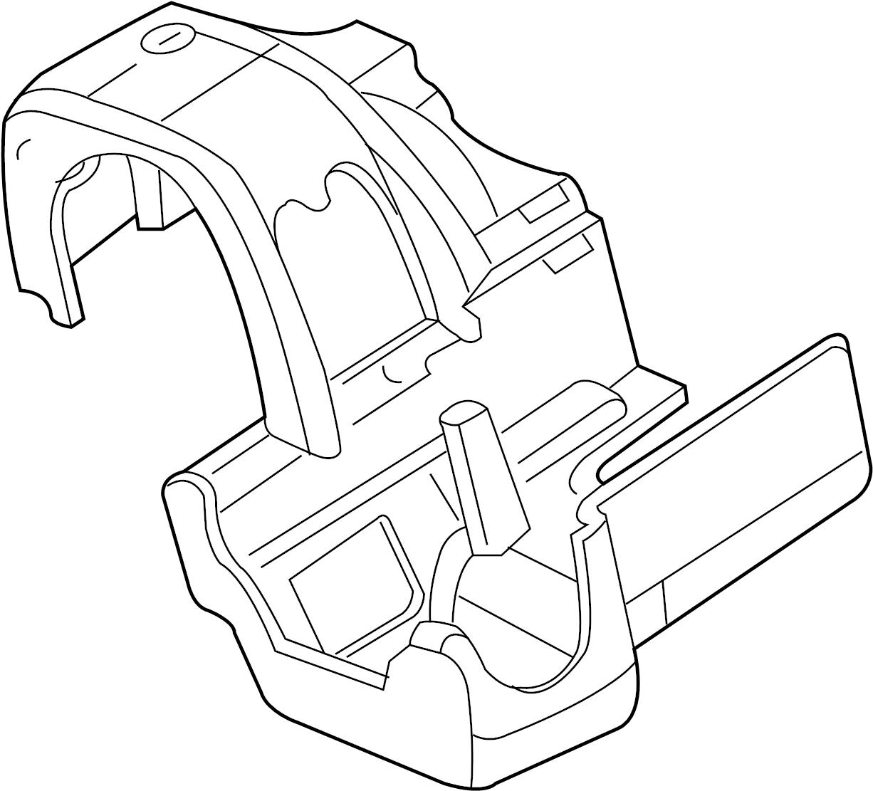 Ford F 150 Steering Column Cover Black F150 Mark Lt W
