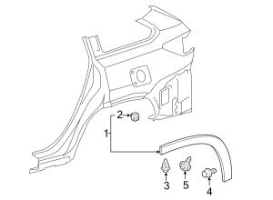 2015 TOYOTA HIGHLANDER Wheel Arch Molding Wheel opng mldg