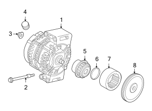 2008 Land Rover LR2 Alternator Bolt Mount, Telematics, SCREW, Lighting, Electrical  LR001494