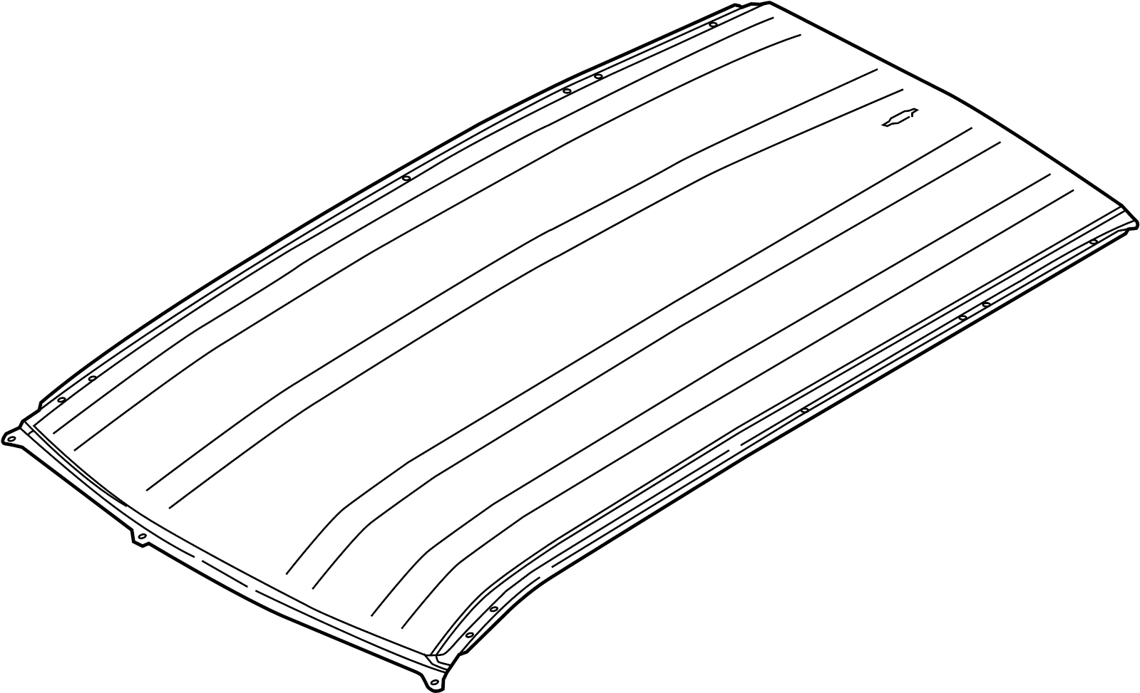 Land Rover Discovery Sport Roof Panel Rear