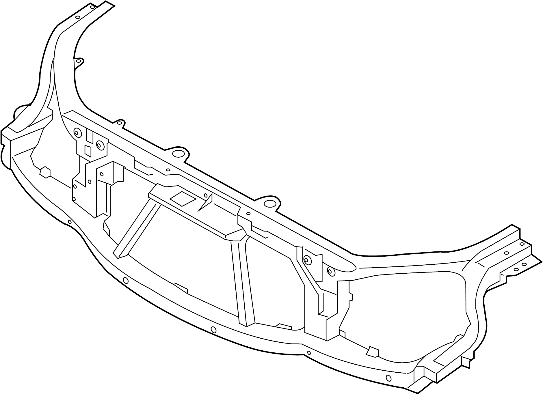 Land Rover Discovery Radiator Support Panel Front