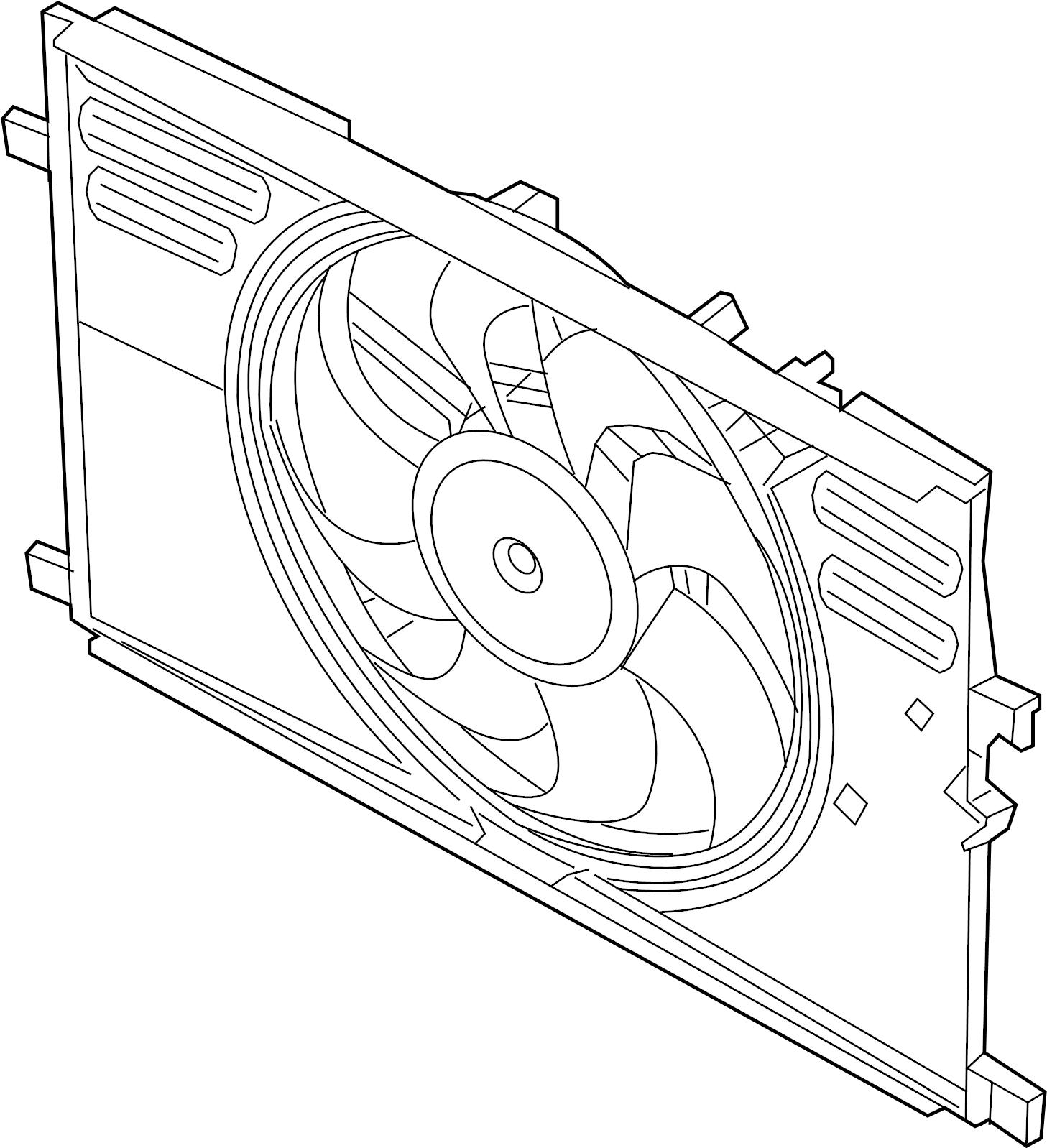 Land Rover Range Rover Velar Engine Cooling Fan