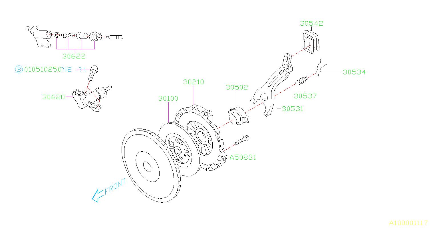 Subaru Wrx Cylinder Assembly Clutch Operate