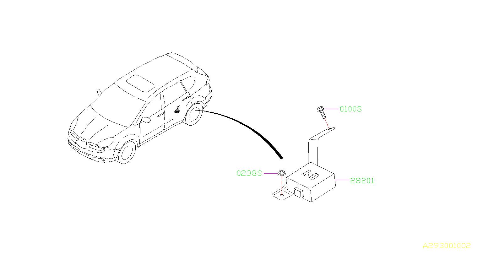 Subaru Tribeca Flange Bolt Pilot Tank Fuel Pump