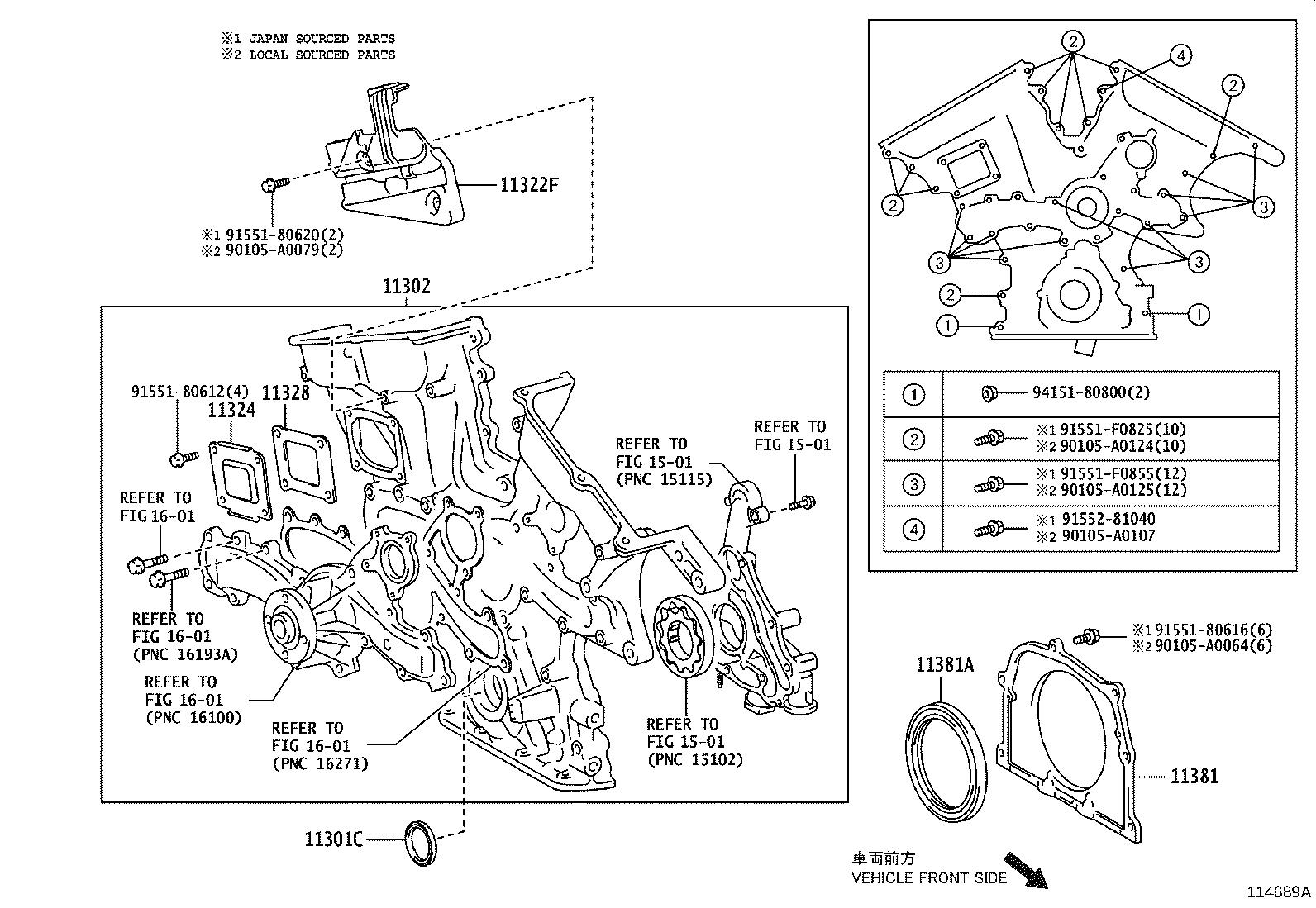 Toyota Sienna Engine Timing Cover Cover Timing Chain