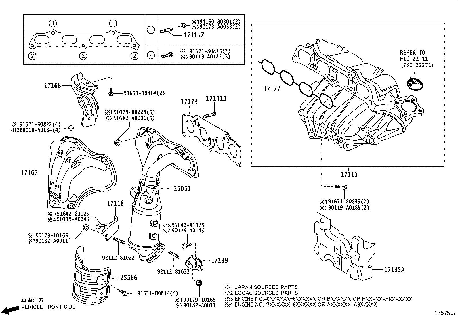 Toyota Matrix Exhaust Manifold Engine System Intake