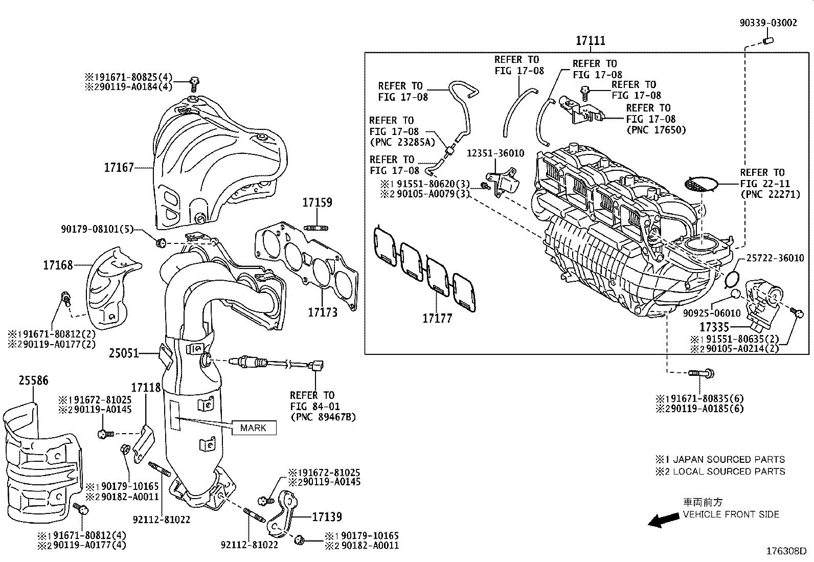 Toyota Venza Catalytic Converter With Integrated Exhaust
