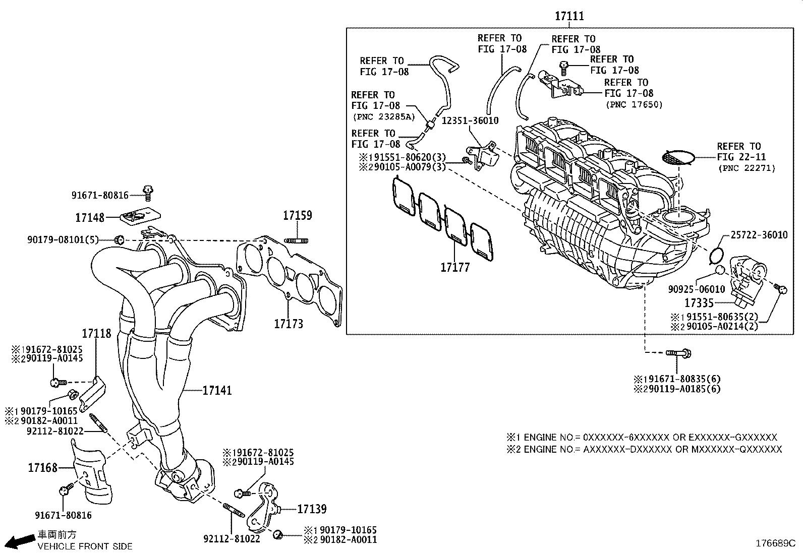 Toyota Sienna Catalytic Converter With Integrated Exhaust