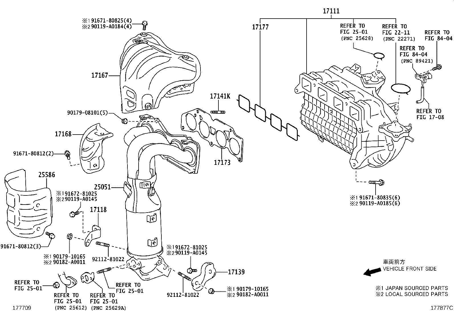 Toyota Avalon Manifold Intake Exhaust Engine