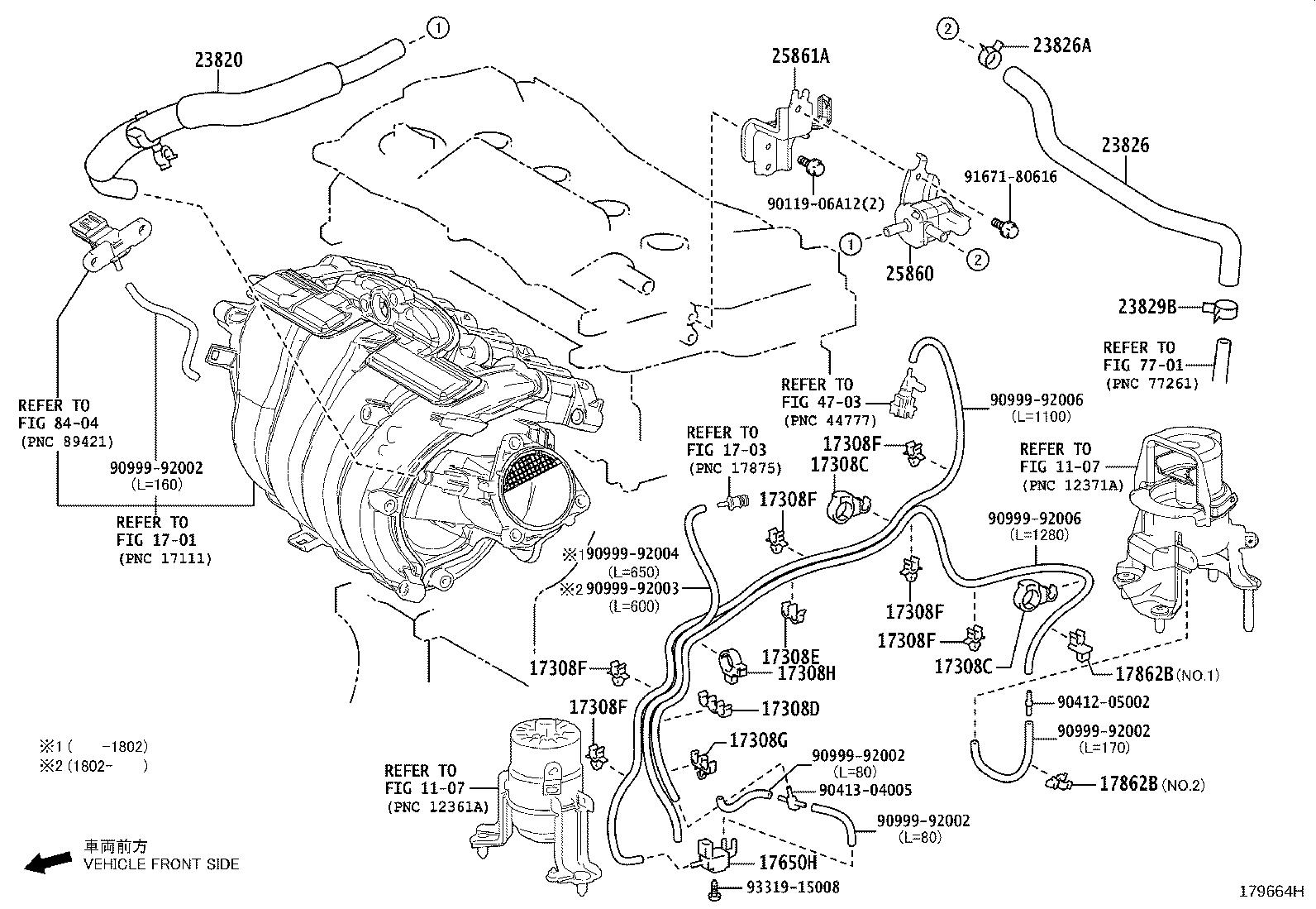 Toyota Camry Valve Assembly Vacuum Switching No 1