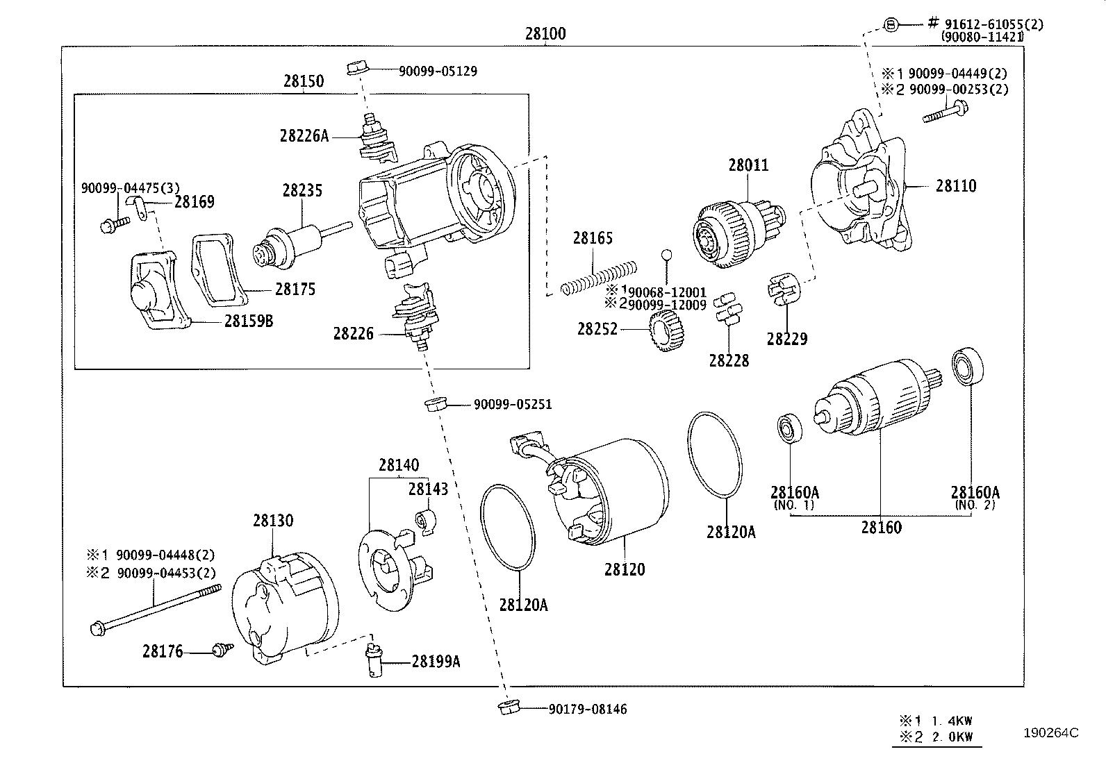Toyota Tacoma Starter Solenoid Switch Magneti Cold
