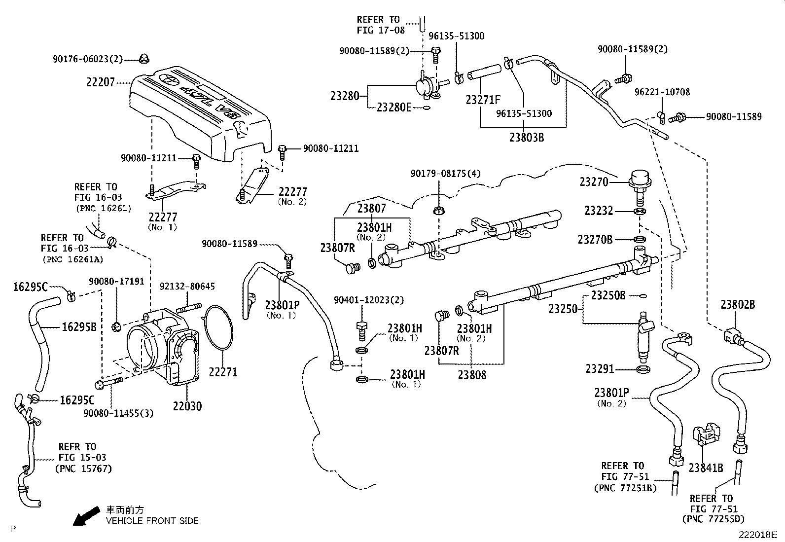 Toyota Tundra Fuel Injector Injector Set Fuel System