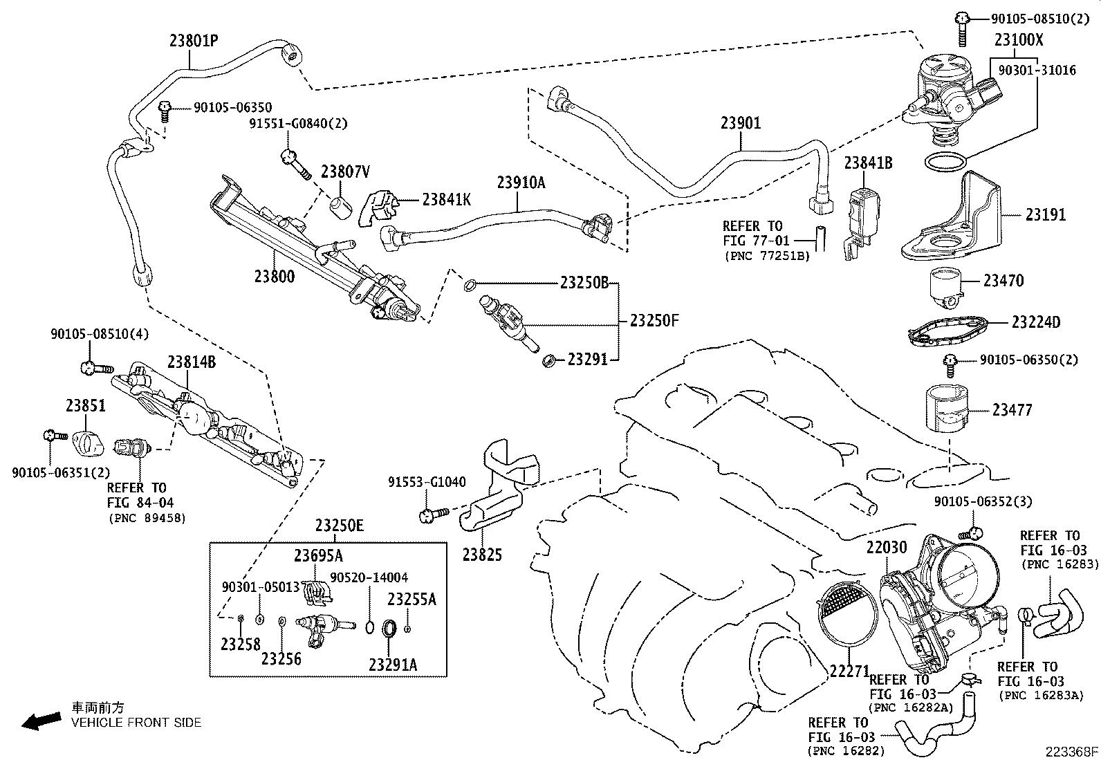 Toyota Camry Pipe Fuel Delivery System Gen Arl