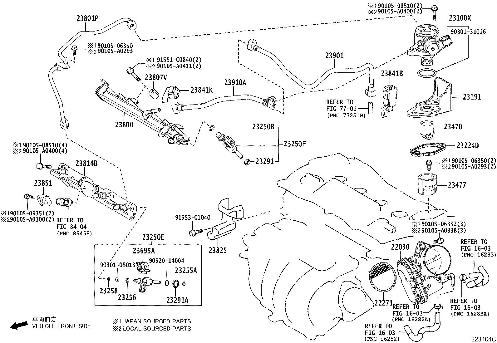 Toyota Camry Hose Fuel No 1 System Injection