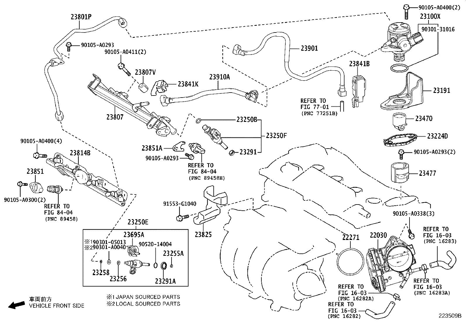 Toyota Avalon Guard Fuel Delivery System Injection