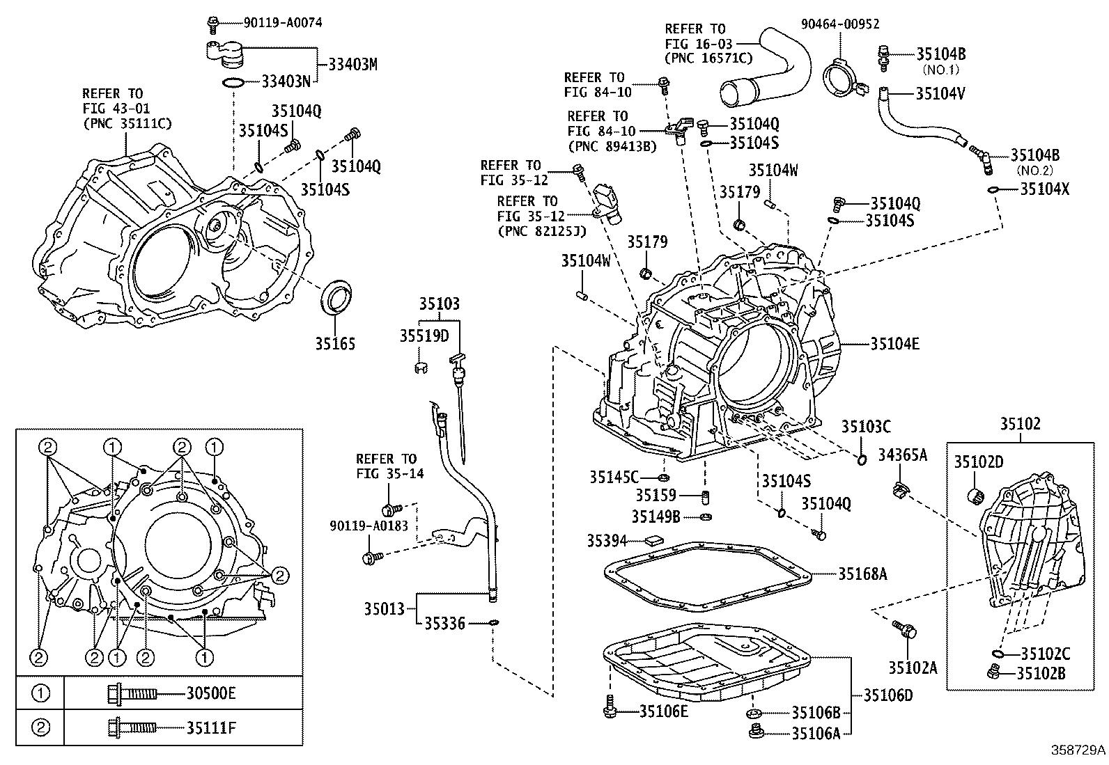 Toyota Corolla Case Sub Assembly Automatic Transaxle Atm