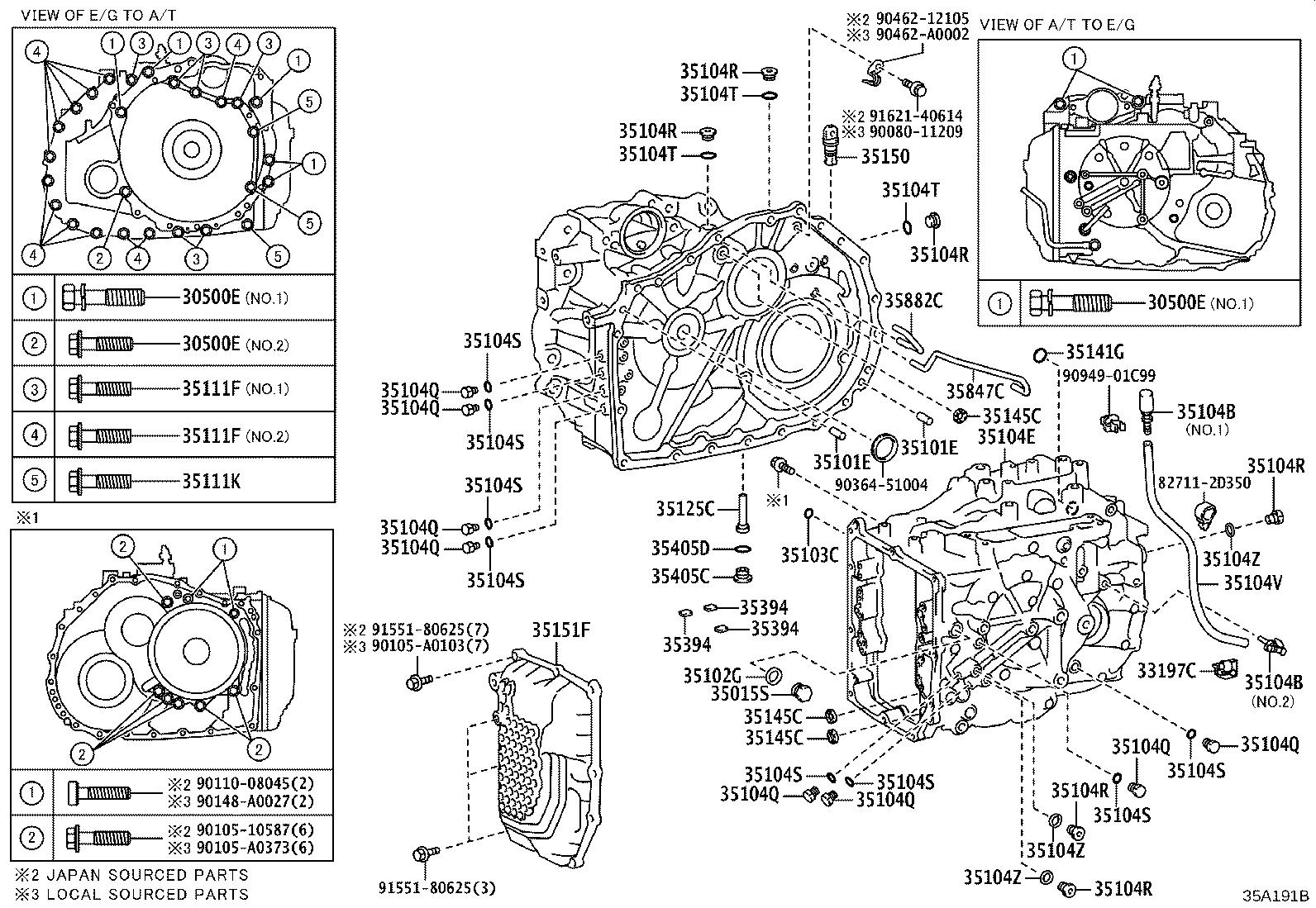 Toyota Highlander Case Sub Assembly Automatic Transaxle