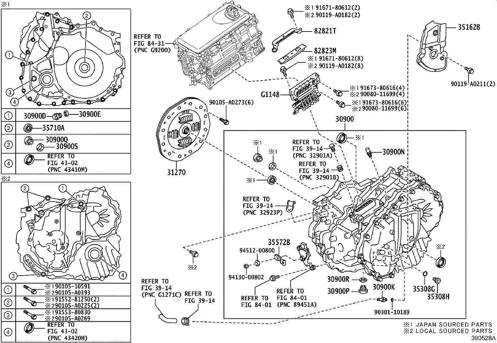 Toyota Avalon Damper Assembly Transmission Input Fcv