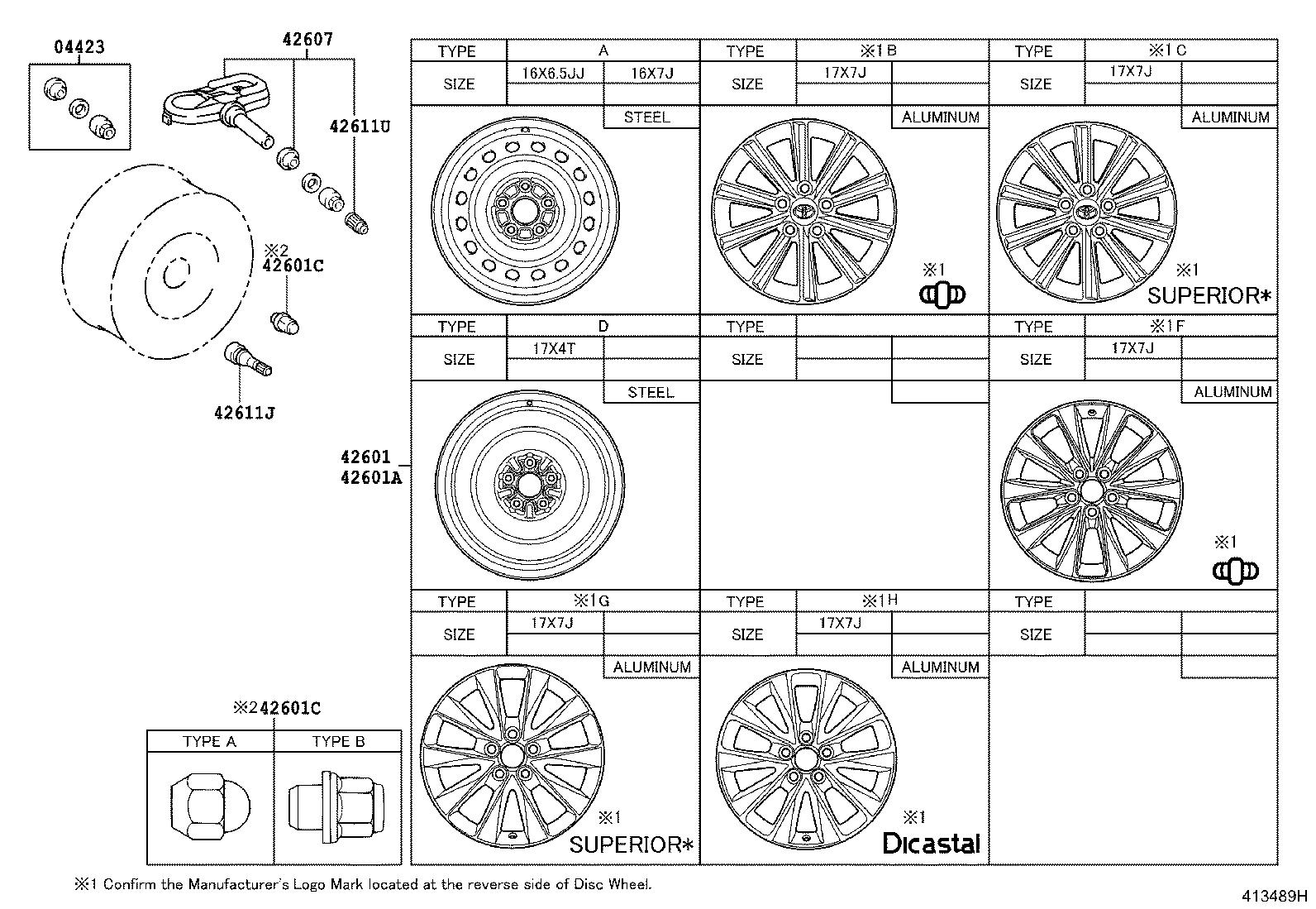 Toyota Camry Wheel Cover Disc Components Cap