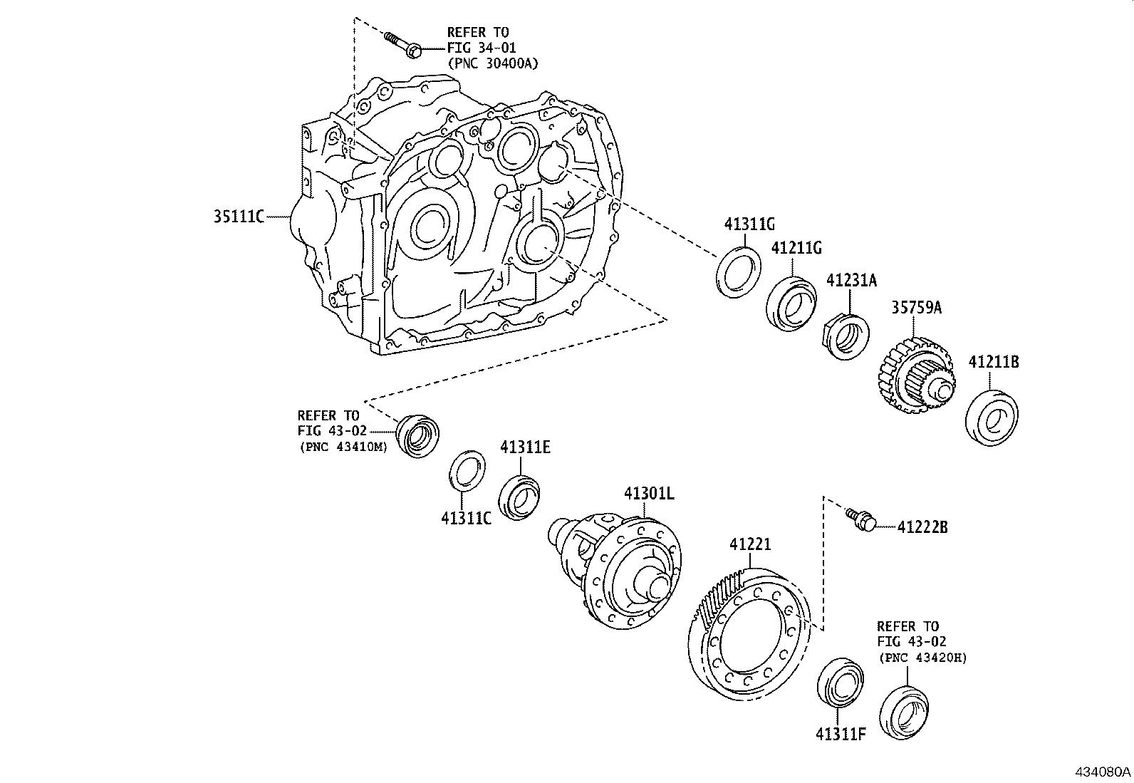 Toyota Corolla Case Front Transaxle Mtm Differential Brakes Suspension