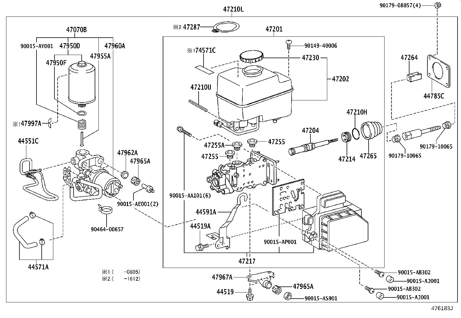 Toyota Land Cruiser Abs Pump And Motor Pump Brake