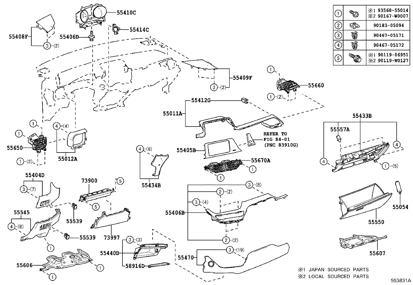 Toyota C Hr Brace Sub Assembly Instrument Panel To Cowl