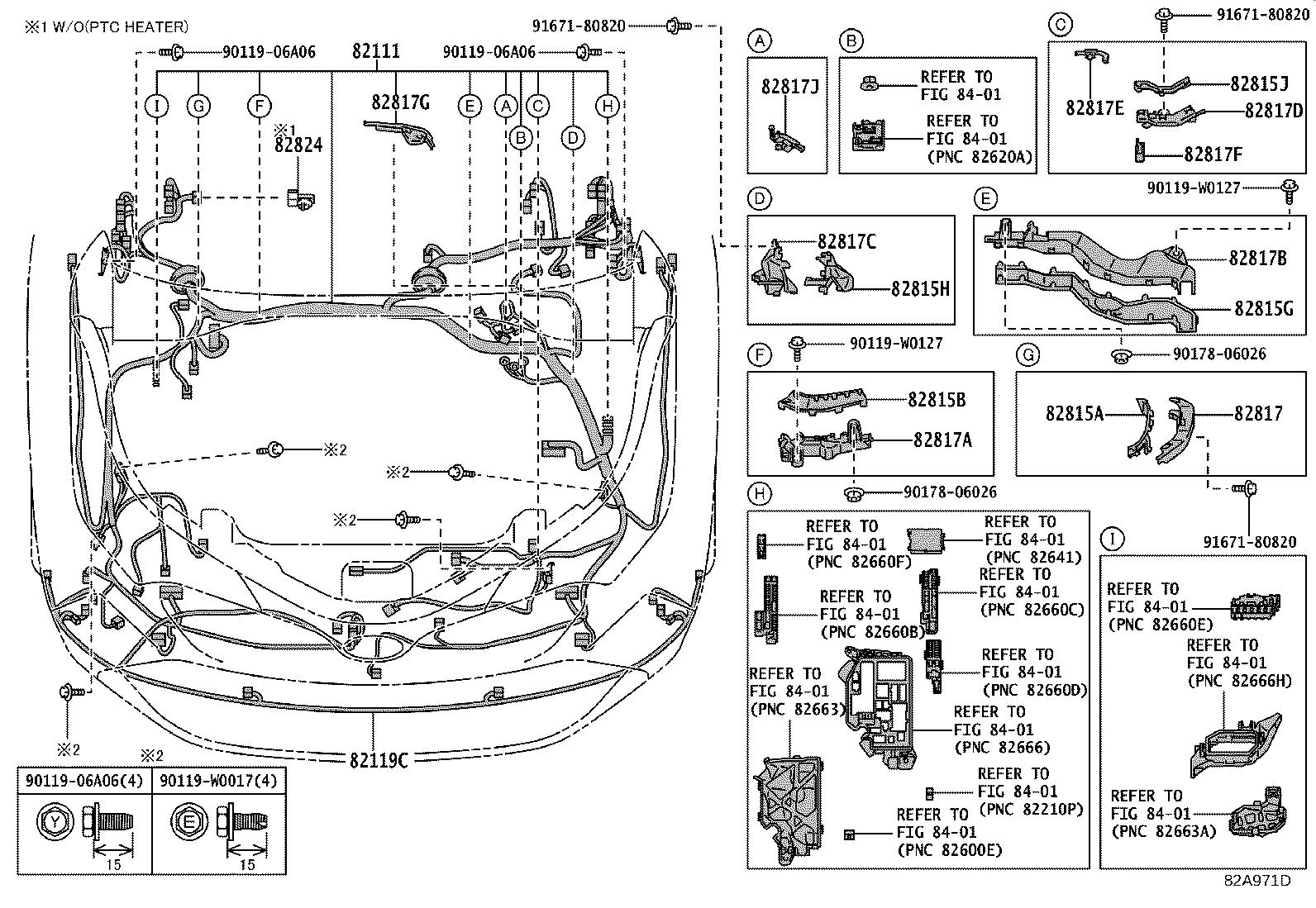 Toyota C Hr Wire Front Door Right Engine Electrical