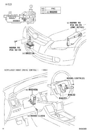 Toyota Avalon Computer assembly, distance control Cruise