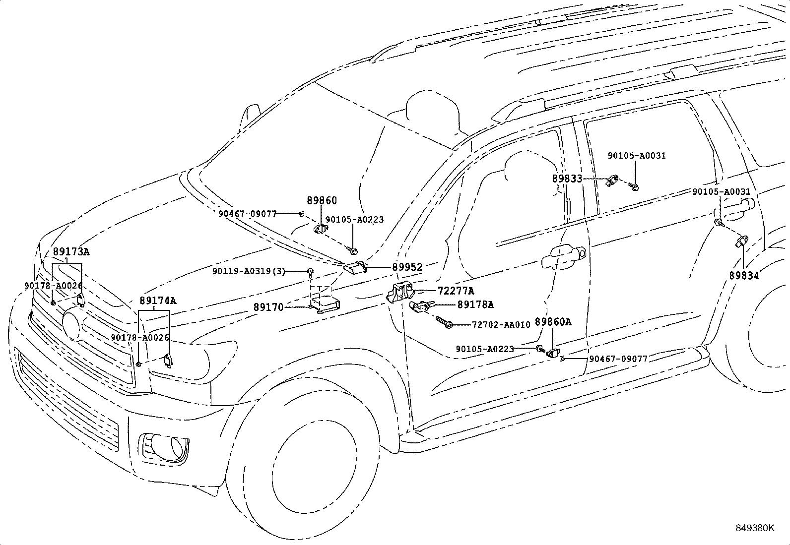 Toyota Sequoia Air Bag Impact Sensor Left Right Sensor