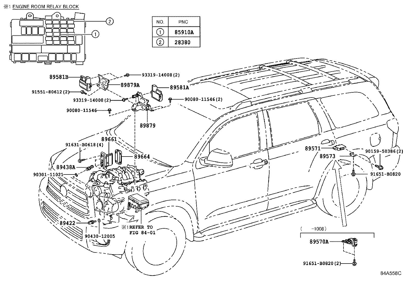 Toyota Sequoia Computer Engine Control Electrical