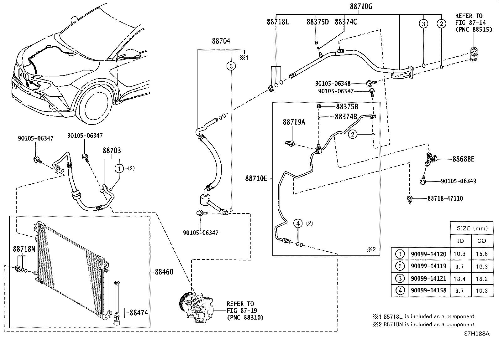 Toyota C Hr Sensor Air Conditioner Pressure Heating Electrical Conditioning