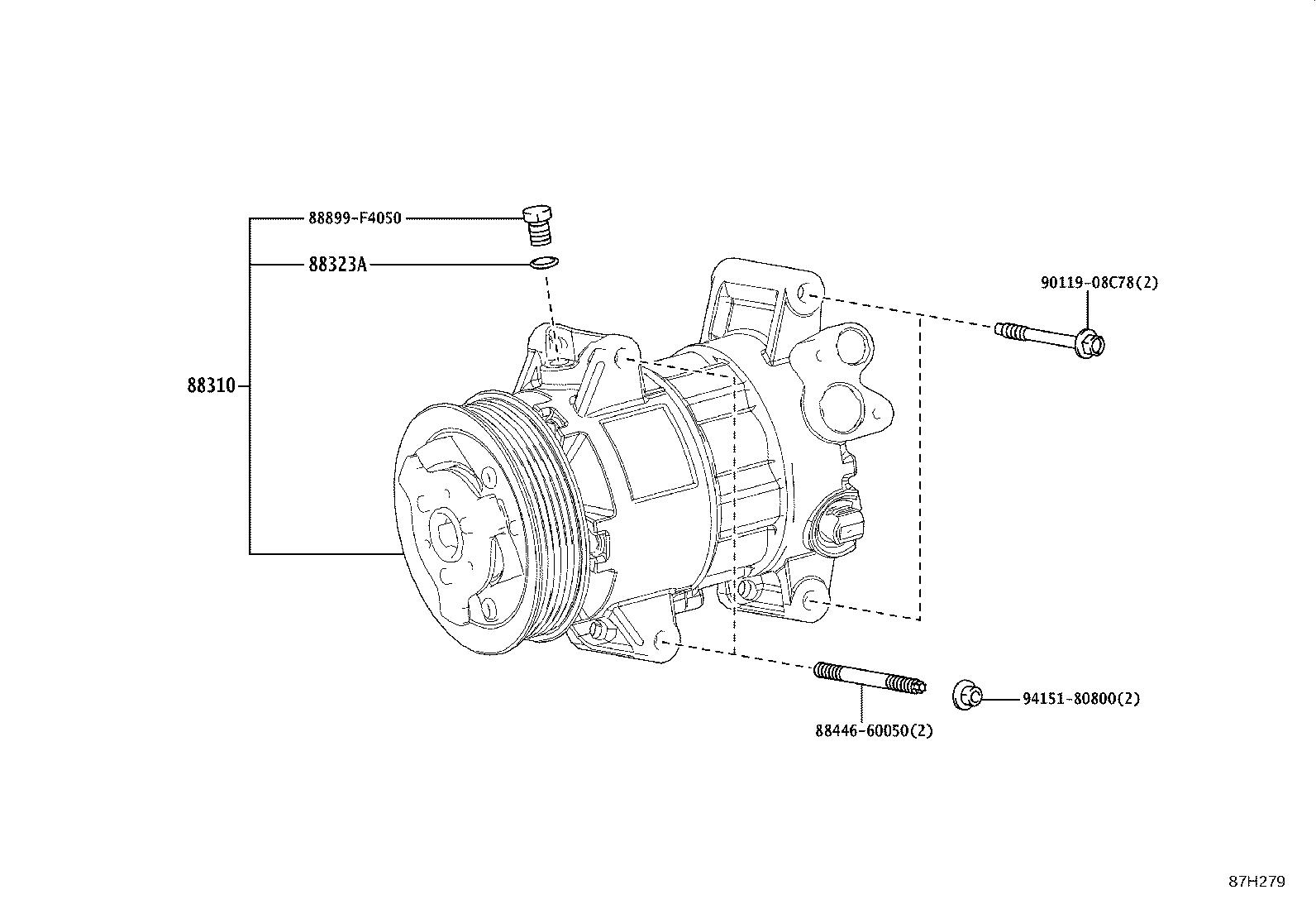 Toyota C Hr Gasket Compressor Electrical Conditioning