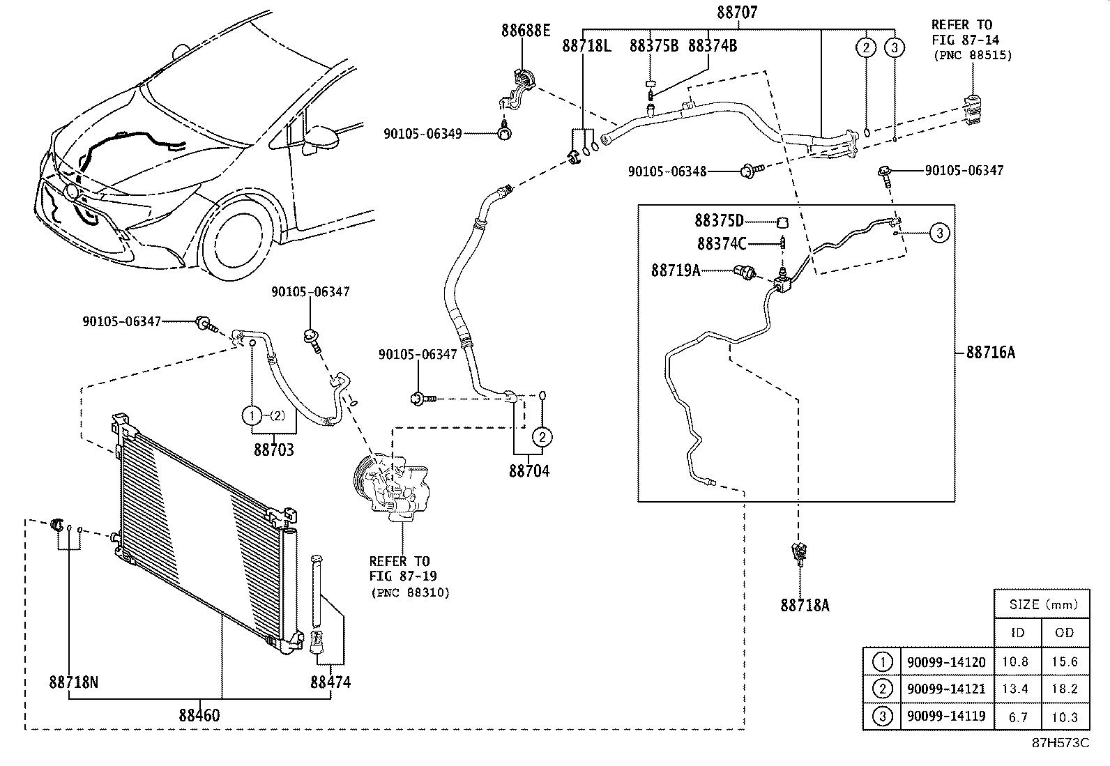 Toyota Corolla A C Receiver Drier Dryer Cooler